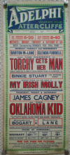 Oklahoma Kid, UK film poster, James Cagney, Humphrey Bogart, '39